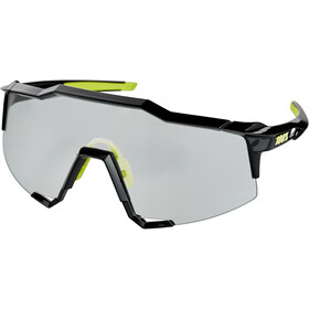100% Speedcraft Bril Groot, gloss black/photochromic